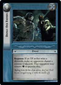 lotr tcg mines of moria foils dismay our enemies foil