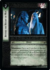 lotr tcg mines of moria foils beyond the height of men foil