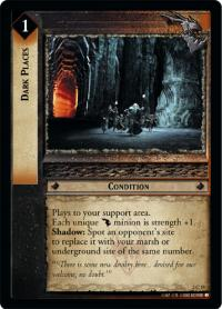 lotr tcg mines of moria foils dark places foil