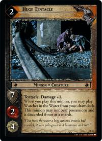 lotr tcg mines of moria huge tentacle