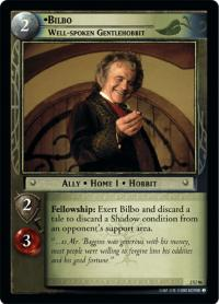 lotr tcg mines of moria foils bilbo baggins well spoken gentlehobbit foil