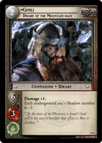 lotr tcg mines of moria gimli dwarf of the mount race