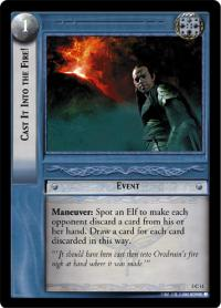 lotr tcg realms of the elf lords foils cast it into the fire foil