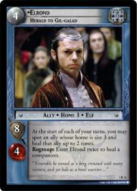lotr tcg realms of the elf lords elrond herald to gil galad