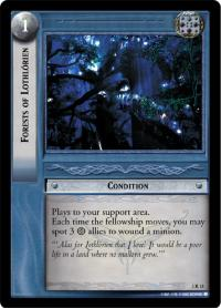 lotr tcg realms of the elf lords forests of lothl rien