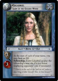 lotr tcg realms of the elf lords galadriel lady of the golden wood