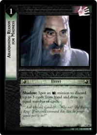 lotr tcg realms of the elf lords foils abandoning reason for madness foil