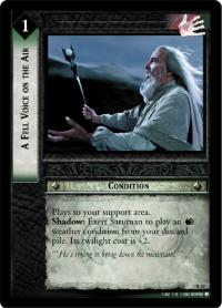 lotr tcg realms of the elf lords a fell voice on the air