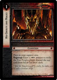 lotr tcg realms of the elf lords his cruelty and malice