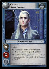 lotr tcg realms of the elf lords legolas son of thranduil