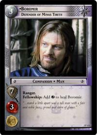 lotr tcg realms of the elf lords boromir defender of minas tirith