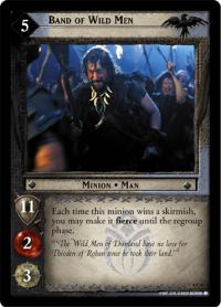 lotr tcg the two towers foils band of wild men foil