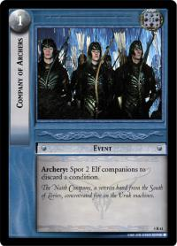 lotr tcg the two towers company of archers