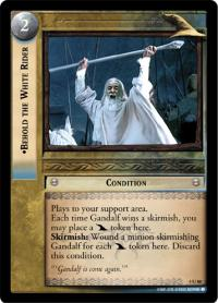 lotr tcg the two towers foils behold the white rider foil