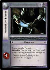 lotr tcg the two towers boromir my brother