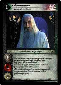 lotr tcg the two towers anthology saruman black traitor t