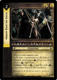 lotr tcg the two towers foils arrow from the south foil