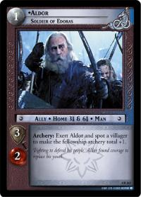 lotr tcg the two towers foils aldor soldier of edoras foil