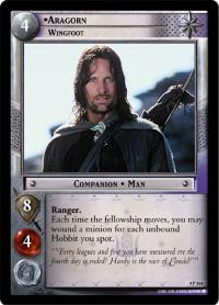 lotr tcg the two towers foils aragorn wingfoot foil