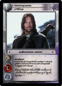 lotr tcg the two towers anthology aragorn wingfoot t
