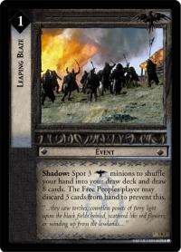 lotr tcg battle of helms deep leaping blaze