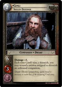 lotr tcg battle of helms deep gimli skilled defender