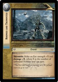 lotr tcg ents of fangorn foils boomed and trumpeted foil