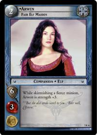 lotr tcg return of the king arwen fair elf maiden