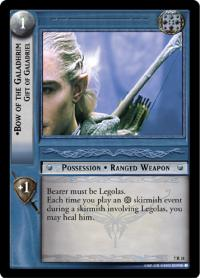 lotr tcg return of the king bow of the galadhrim gift of galadriel