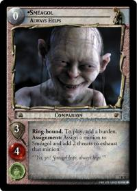 lotr tcg return of the king smeagol always helps