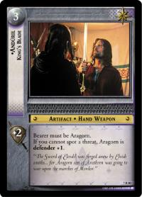 lotr tcg return of the king anduril king s blade