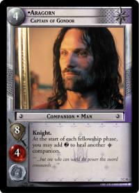 lotr tcg return of the king foils aragorn captain of gondor foil