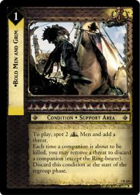 lotr tcg return of the king bold men and grim