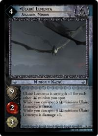 lotr tcg return of the king ulaire lemenya assailing minion