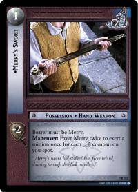 lotr tcg return of the king merry s sword