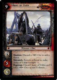 lotr tcg return of the king foils army of udun foil