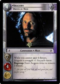 lotr tcg return of the king aragorn driven by need
