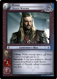 lotr tcg return of the king eomer valiant warchief