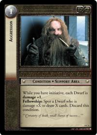 lotr tcg siege of gondor foils aggression foil