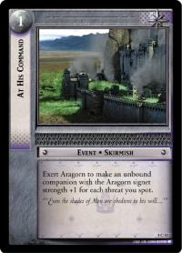 lotr tcg siege of gondor foils at his command foil