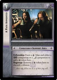 lotr tcg siege of gondor foils a path appointed foil