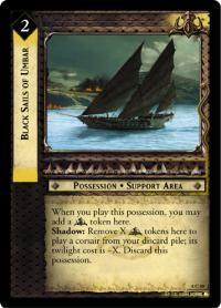 lotr tcg siege of gondor foils black sails of umbar foil