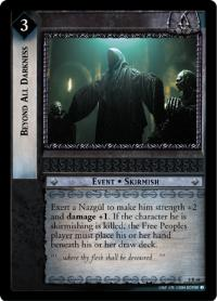 lotr tcg siege of gondor foils beyond all darkness foil