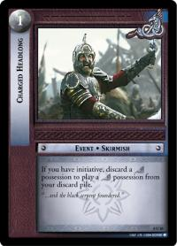 lotr tcg siege of gondor foils charged headlong foil