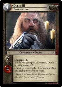lotr tcg reflections durin iii dwarven lord