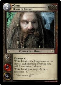lotr tcg reflections gimli bearer of grudges