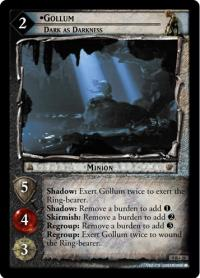 lotr tcg reflections gollum dark as darkness
