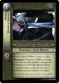 lotr tcg shadows sting weapon of heritage