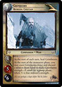 lotr tcg expanded middle earth grimbeorn beorning chieftain