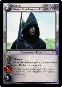 lotr tcg expanded middle earth duilin ranger from blackroot vale